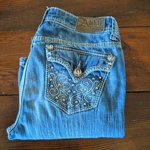 Adiktd Trademark Denim Distressed Mid rise Jeans